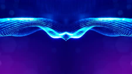tecnológica : 4k abstract looped backgrounds with luminous particles with depth of field. For holiday presentations, as a bright background with light effects. modern motion graphics background. Blue 11