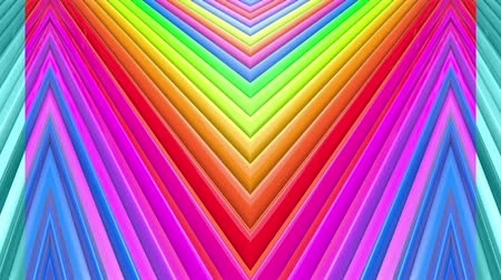 arco : Rainbow multicolored stripes move cyclically. Abstract 3d seamless bright background in 4k. Simple geometry in cartoon creative style. Looped smooth animation. Line 1