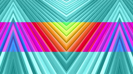 ipnotizzare : Rainbow multicolored stripes move cyclically. Abstract 3d seamless bright background in 4k. Simple geometry in cartoon creative style. Looped smooth animation. Line 3 Filmati Stock