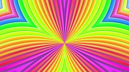 peppy : Rainbow multicolored stripes move cyclically. Abstract 3d seamless bright background in 4k. Simple geometry in cartoon creative style. Looped smooth animation. Curves 6