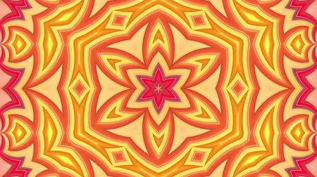 peppy : stripes move cyclically. Abstract 3d seamless bright background in 4k. Simple geometry in cartoon creative style. Looped smooth animation. kaleidoscope 1 Stock Footage