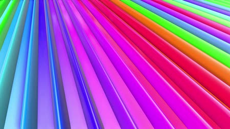 radiante : Rainbow multicolored stripes move cyclically. Abstract 3d seamless bright background in 4k. Simple geometry in cartoon creative style. Looped smooth animation. Line 4