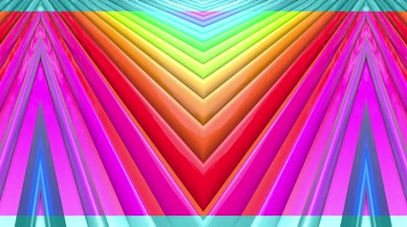 peppy : Rainbow multicolored stripes move cyclically. Abstract 3d seamless bright background in 4k. Simple geometry in cartoon creative style. Looped smooth animation. Line 6