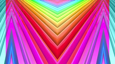 peppy : Rainbow multicolored stripes move cyclically. Abstract 3d seamless bright background in 4k. Simple geometry in cartoon creative style. Looped smooth animation. Line 7
