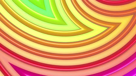 peppy : Rainbow multicolored stripes move cyclically. Abstract 3d seamless bright background in 4k. Simple geometry in cartoon creative style. Looped smooth animation. Curves 12 Stock Footage