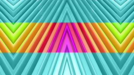 radiante : Rainbow multicolored stripes move cyclically. Abstract 3d seamless bright background in 4k. Simple geometry in cartoon creative style. Looped smooth animation. Line 12