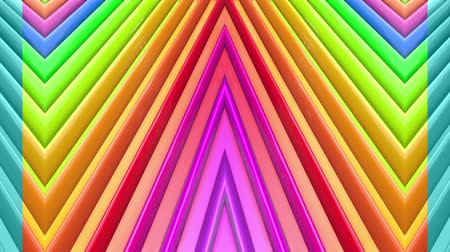peppy : Rainbow multicolored stripes move cyclically. Abstract 3d seamless bright background in 4k. Simple geometry in cartoon creative style. Looped smooth animation. Line 11