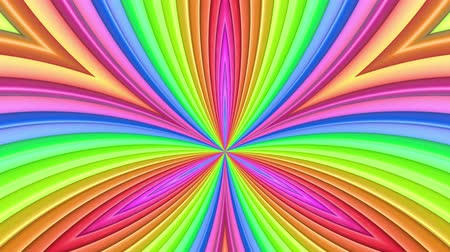 radiante : Rainbow multicolored stripes move cyclically. Abstract 3d seamless bright background in 4k. Simple geometry in cartoon creative style. Looped smooth animation. Curves