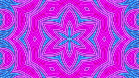 tło retro : stripes move cyclically. Abstract 3d seamless bright background in 4k. Simple geometry in cartoon creative style. Looped smooth animation. kaleidoscope 4