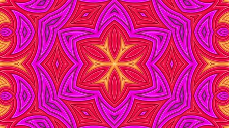 peppy : stripes move cyclically. Abstract 3d seamless bright background in 4k. Simple geometry in cartoon creative style. Looped smooth animation. kaleidoscope 5 Stock Footage