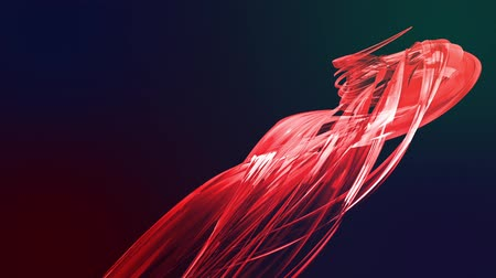 sheen : colorful red stripes twist in a circular formation, move in a circle. Seamless creative background, looped 3d smooth animation of bright shiny ribbons curled in circle glitters like glass. 4