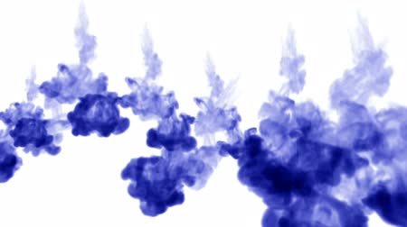 шлейф : 3d render blue ink in water on white background with luma matte as alpha mask for ink effects or background. multiple injections 3