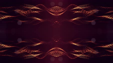 nucleic : 4k abstract looped backgrounds with luminous particles with depth of field. Science fiction background. Golden red dot structures 16