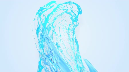 замена : 4k blue splash moves past the camera in slow motion. 3d animation with luma matte as alpha channel for simple substitution of the background under the liquid. To cut a splash use luma matte. 44