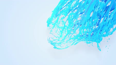 замена : 4k blue splash moves past the camera in slow motion. 3d animation with luma matte as alpha channel for simple substitution of the background under the liquid. To cut a splash use luma matte. 48