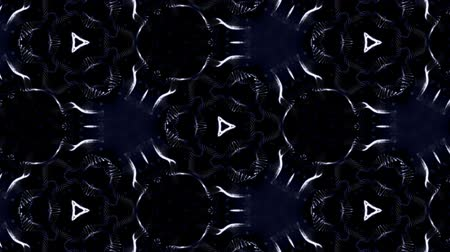 симметричный : complex blue composition of particles form a periodic structure. 3d loop animation with particles as a sci-fi background. Vj loop for night club, parties, festival or holidays presentation. 2 Стоковые видеозаписи