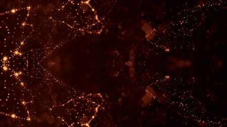 размеры : looped 3d composition of sparkling golden particles on a dark background with depth of field and bokeh effects. Lighting effects shiny particles for holiday presentations. Seamless animation. 35 Стоковые видеозаписи