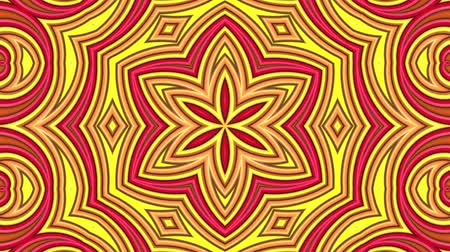 mértan : Abstract 3d seamless bright background in 4k with red orange tapes. Red orange stripes move cyclically in simple geometry cartoon creative style. Looped smooth animation. Kaleidoscope 4 Stock mozgókép