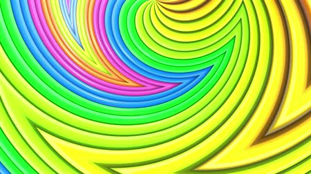 peppy : Abstract 3d seamless bright background in 4k with rainbow tapes. Rainbow multicolored stripes move cyclically in simple geometry cartoon creative style. Looped smooth animation. 47