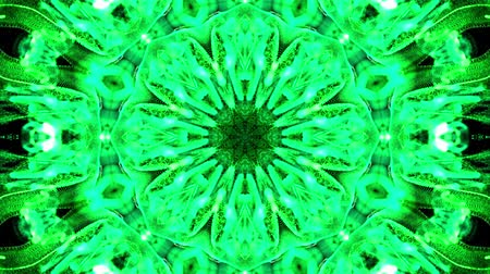 yumuşaklık : Abstract particles background. 4k luminous particles move in liquid flow form kaledoscopic structures. Ink effect with luma matte as alpha channel. Glow green particles on black background 46