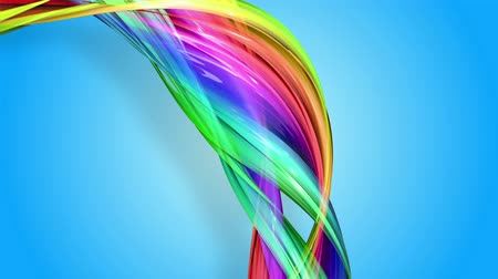 cinta de regalo : Rainbow stripes are moving in a circle and twisting as abstract background. 1 Archivo de Video
