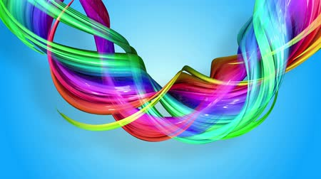 continuar : Rainbow stripes are moving in a circle and twisting as abstract background. 12