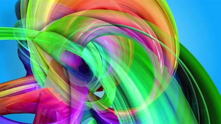 sheen : Rainbow stripes are moving in a circle and twisting as abstract background. 47 Stock Footage