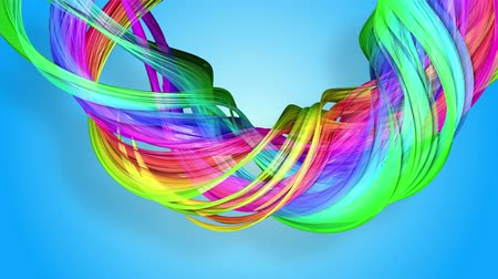 folyamatos : Rainbow stripes are moving in a circle and twisting as abstract background. 55