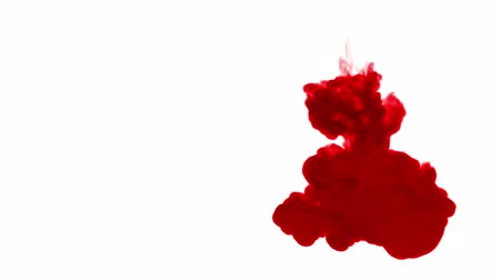 fácil : 3d render of red ink dissolves in water on white background with luma matte as alpha channel for visual effects and easy compositing. 17