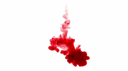 modo : 3d render of red ink dissolves in water on white background with luma matte as alpha channel for visual effects and easy compositing. 27