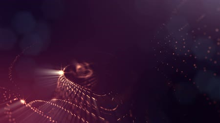 размеры : Abstract background of glowing particles with shining bokeh sparkles. Composition with luminous particles that form surface. Smooth animation looped. Golden red 25