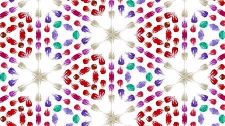 složený : liquid in the containers form cells structure like kaleidoscope effect. fluid bounces like on music speakers. Multicolored 21 Dostupné videozáznamy
