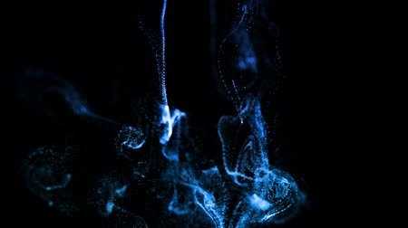 複雑 : glow particles as advection ink effect, dissolve in water. blue ver. 21