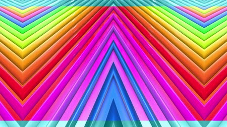 geometryczne : Rainbow multicolored stripes move cyclically. 23