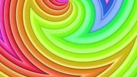radiante : Rainbow multicolored stripes move cyclically. 44 Stock Footage