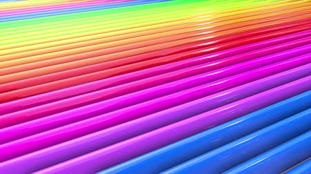radiante : Rainbow multicolored stripes move cyclically. 50 Stock Footage