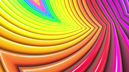 radiante : Rainbow multicolored stripes move cyclically. 54 Stock Footage