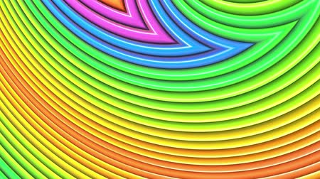 abstract animated : Rainbow multicolored stripes move cyclically. 68