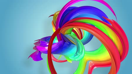 csík : Abstract seamless background with multicolored ribbons. Rainbow stripes are moving in a circle and twisting. 15