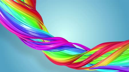 csík : Abstract seamless background with multicolored ribbons. Rainbow stripes are moving in a circle and twisting. 21