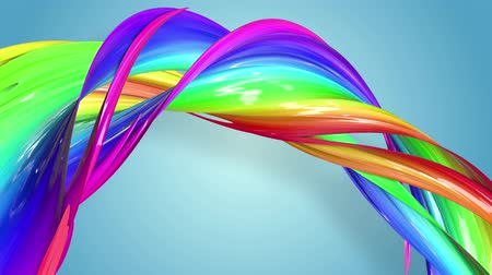 csík : Abstract seamless background with multicolored ribbons. Rainbow stripes are moving in a circle and twisting. 66