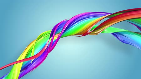 すじ : Abstract seamless background with multicolored ribbons. Rainbow stripes are moving in a circle and twisting. 73