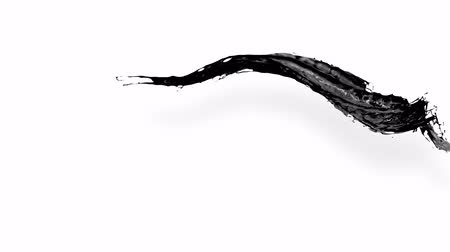 múlt : 4k black splash like petroleum moves past the camera in slow motion. 3d animation of liquid like oil with luma matte as alpha channel. To cut a splash use luma matte. Ver. 3
