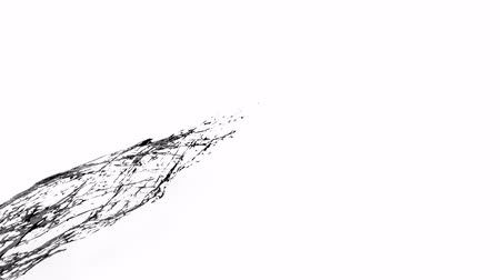oil drop : 4k black splash like petroleum moves past the camera in slow motion. 3d animation of liquid like oil with luma matte as alpha channel. To cut a splash use luma matte. Ver. 55