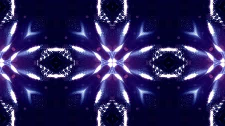oscilante : glow particles form sci-fi cosmic background. looped 3d animation. Blue symmetrical structures ver 20