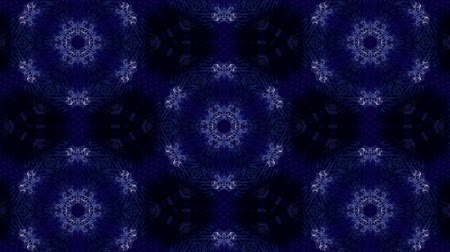 hallucination : Glow particles form ornate pattern like mandala. Abstract seamless animation as science fiction pattern for HUD screen element. Top of view. Complex structure as background. Blue ver 19