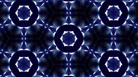 synergie : Glow particles form ornate pattern like mandala. Abstract seamless animation as science fiction pattern for HUD screen element. Top of view. Complex structure as background. Blue ver 21