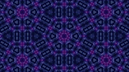 ornamento : Glow particles form ornate pattern like mandala. Abstract seamless animation as science fiction pattern for HUD screen element. Top of view. Complex structure as background. Blue ver 35