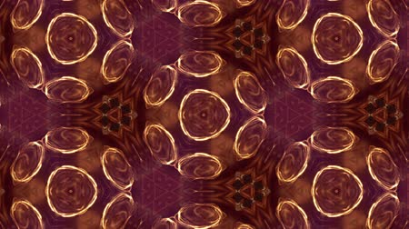 leds : Glow particles form ornate pattern like mandala. Abstract seamless animation as science fiction pattern for HUD screen element. Top of view. Complex structure as background. Golden red ver 2 Stock Footage