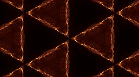 arabesk : Glow particles form ornate pattern like mandala. Abstract seamless animation as science fiction pattern for HUD screen element. Top of view. Complex structure as background. Golden red ver 14